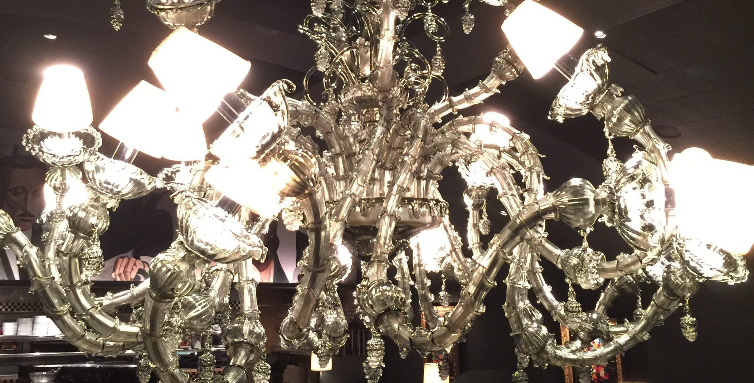 The Dragon Chandelier Cleaned by Paneless Dallas, TX