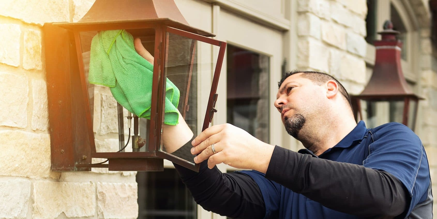 Porch Lamp Cleaning Dallas, TX