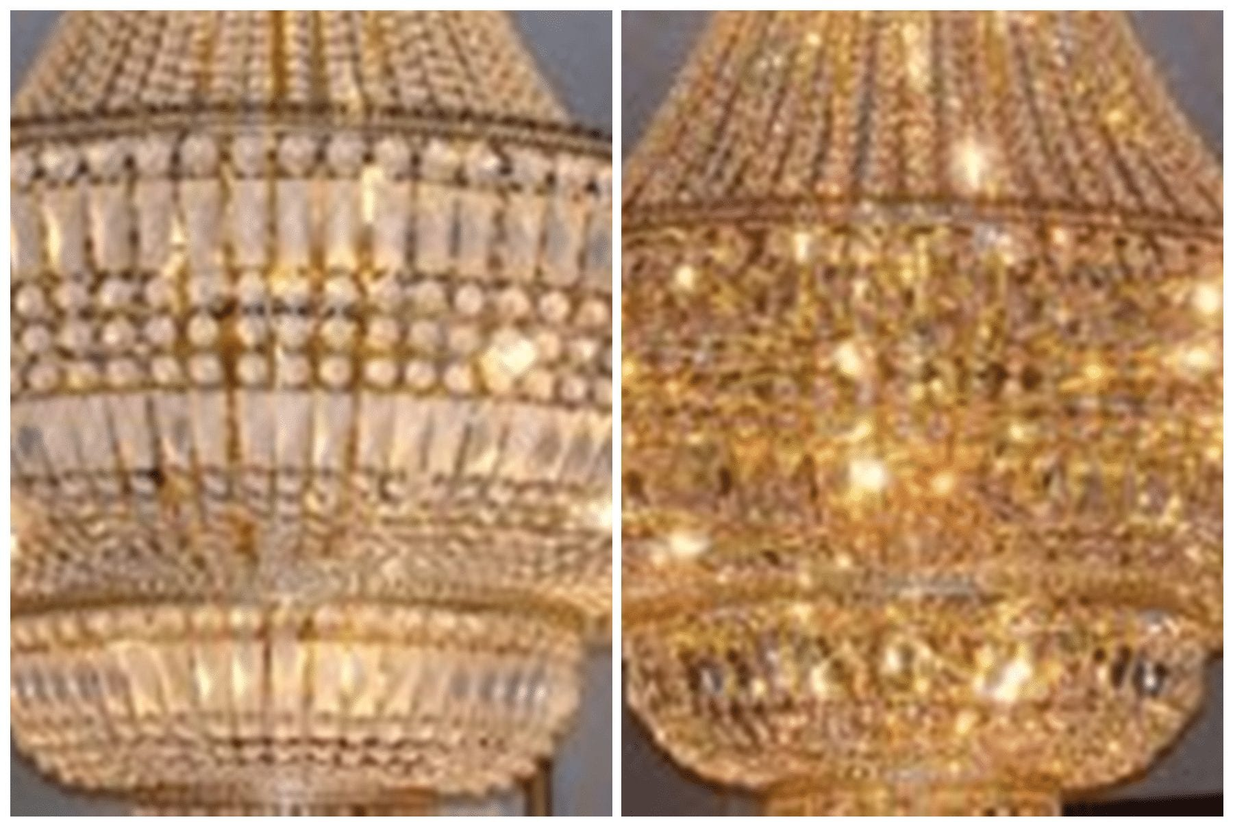 CHANDELIER BEFORE AFTER