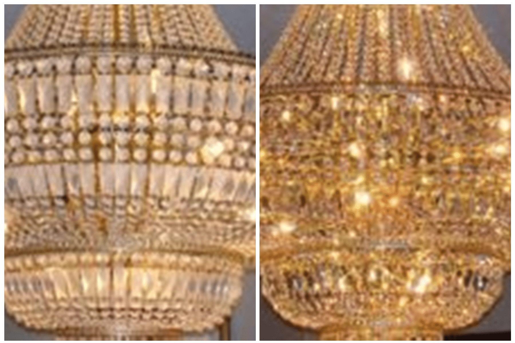 chandelier polishing, Dallas, TX