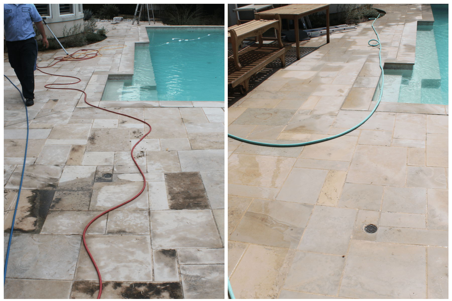 Power Washing Before and After Dallas, TX