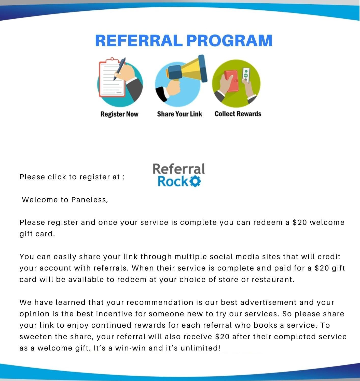 Referral Program Website use